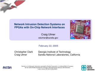 Network Intrusion Detection Systems on  FPGAs with On-Chip Network Interfaces