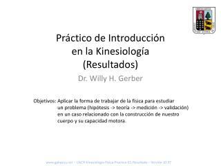 Práctico de Introducción en la Kinesiología (Resultados)