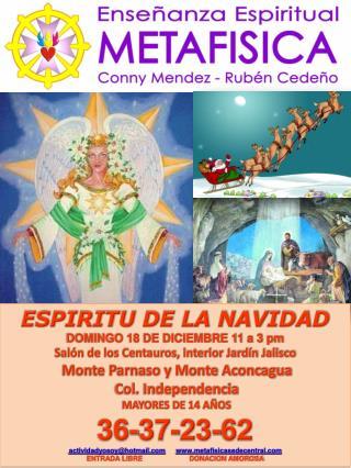 ESPIRITU DE LA NAVIDAD DOMINGO  18  DE DICIEMBRE  11 a 3 pm