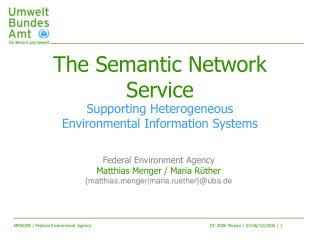 The Semantic Network Service