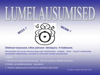 LUMELAUSUMISED