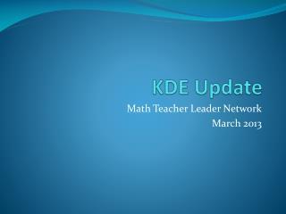 KDE Update
