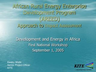 African Rural Energy Enterprise Development Program (AREED) Approach to Impact Assessment