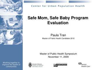 Safe Mom, Safe Baby Program Evaluation