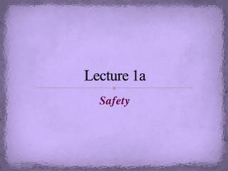 Lecture 1a