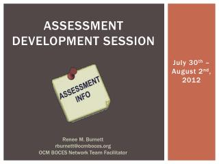 assessment development  SESSion