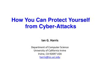 How You Can Protect Yourself from Cyber-Attacks