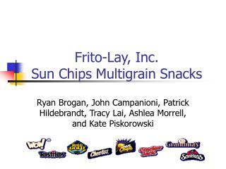 Frito-Lay, Inc. Sun Chips Multigrain Snacks