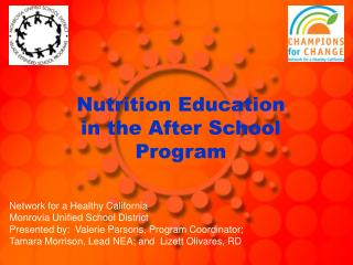 Nutrition Education in the After School Program