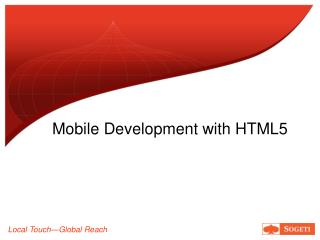 Mobile Development with HTML5
