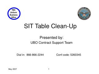 SIT Table Clean-Up