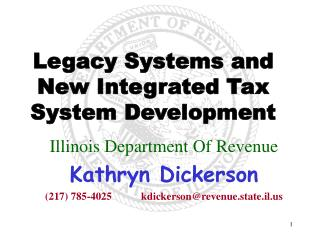 Legacy Systems and New Integrated Tax System Development
