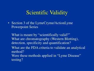 Scientific Validity
