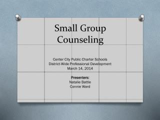 Small Group Counseling