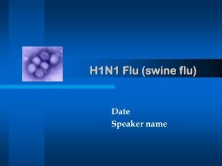 H1N1 Flu (swine flu)