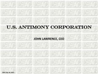 U.S. ANTIMONY CORPORATION