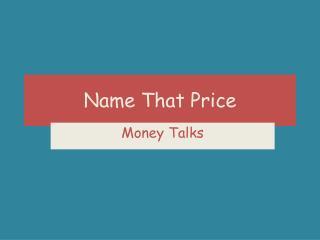Name That Price