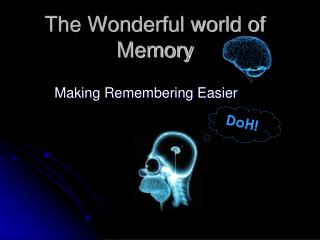 The Wonderful world of Memory