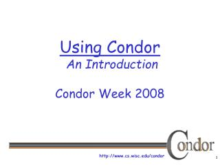 Using Condor  An Introduction Condor Week 2008