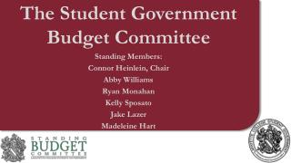 The Student Government Budget Committee