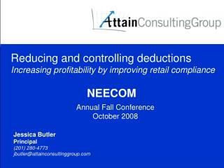 Reducing and controlling deductions Increasing profitability by improving retail compliance