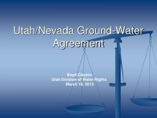 Utah/Nevada Ground-Water  Agreement