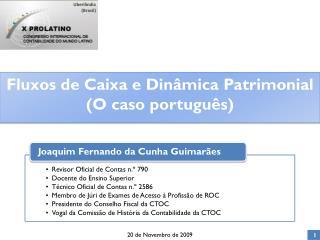 Fluxos de Caixa e Din�mica Patrimonial (O caso portugu�s)