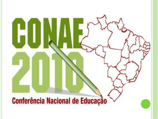 Durante a realização da Conferência Nacional da Educação Básica, em abril