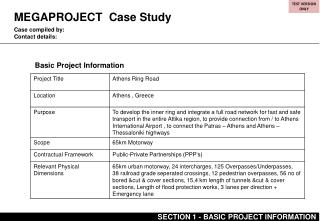 MEGAPROJECT  Case Study