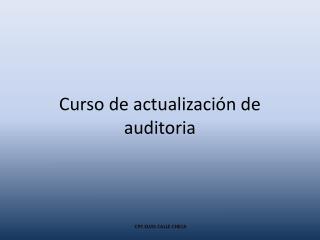 Curso de actualización de auditoria