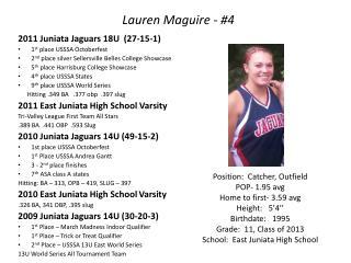 Lauren Maguire - #4