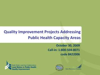 Quality Improvement Projects Addressing Public Health Capacity Areas