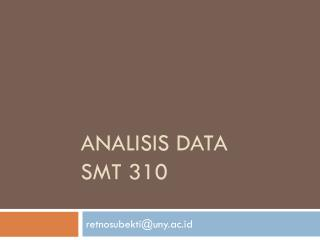 Analisis  data SMT 310