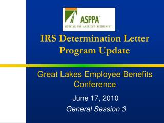 IRS Determination Letter Program Update