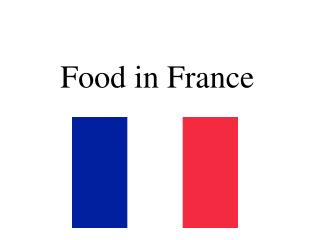 Food in France