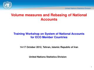 Volume measures and Rebasing of National Accounts