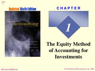 The Equity Method of Accounting for Investments
