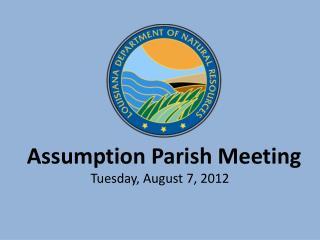 Assumption Parish Meeting