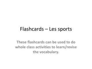 Flashcards – Les sports