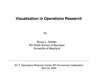 Visualization in Operations Research