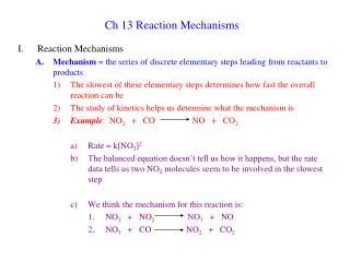 Ch 13 Reaction Mechanisms