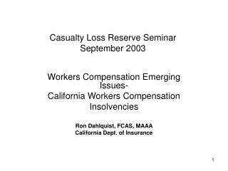Casualty Loss Reserve Seminar  September 2003