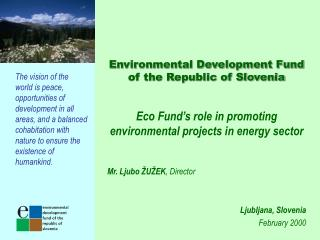 Environmental Development Fund of the Republic of Slovenia