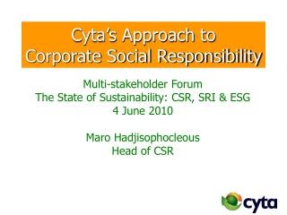 Cyta's Approach to Corporate Social Responsibility