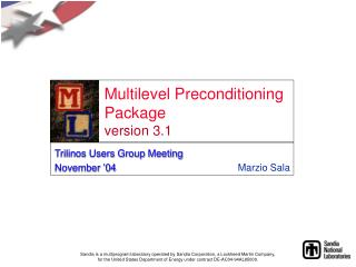 Multilevel Preconditioning Package version 3.1