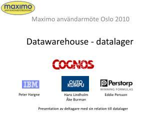 Datawarehouse - datalager