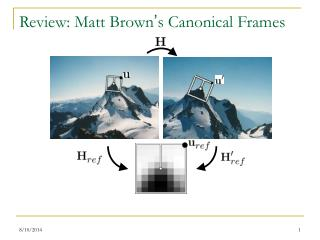 Review: Matt Brown ' s Canonical Frames