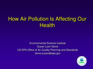 How Air Pollution Is Affecting Our Health