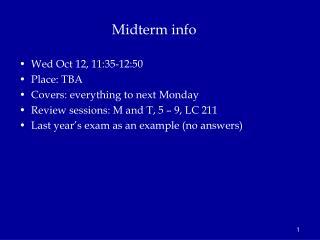 Midterm info