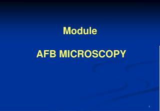 Module AFB MICROSCOPY